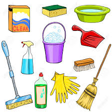 house cleaning supplies clipart collection