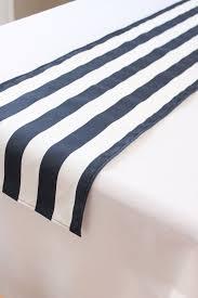 black white striped table runner navy and white striped table runner choose length nautical wedding