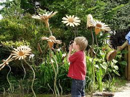 garden garden flower ornaments wooden and wooden flowers