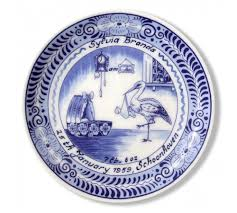 baby birth plates personalized personalised ceramic delft birth plate