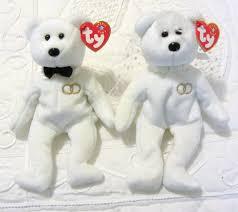 amazon com ty beanie baby mr and mrs bear bride and groom wedding