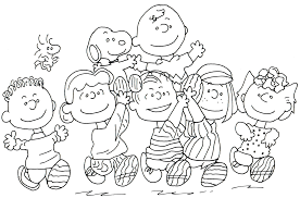 free charlie brown snoopy peanuts coloring pages free