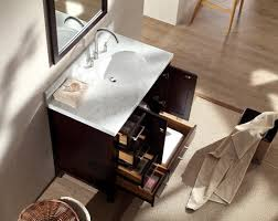 Bathroom Vanity With Offset Sink Ariel Cambridge A037s R Gry 37