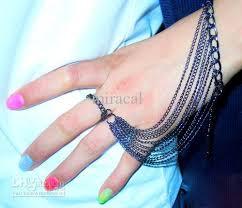 bracelet ring online images 2018 unique design ladies finger loop ring wristchain heavy jpg