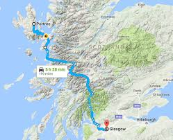 Map A Driving Route by Driving To The Isle Of Skye Scotland Earth Trekkers