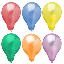 metallic balloons balloons ø 25 cm colours assorted metallic balloons colours