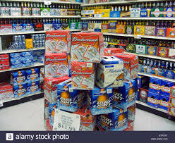budweiser bud light and other beer in the beverage department of a