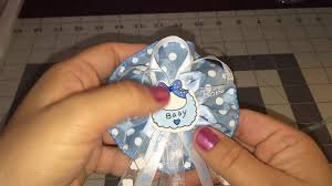 mini baby shower corsage guest pin youtube