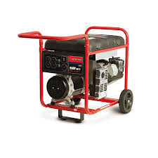shop troy bilt 5 500 running watts portable generator with briggs
