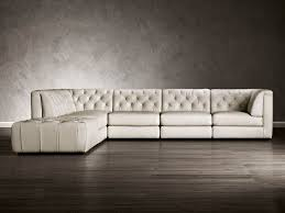 Media Room Sofa Sectionals - natuzzi tuffted leather sectional nailhead trim optional for