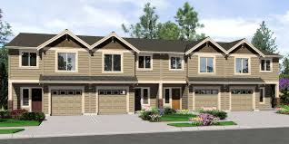 four bedroom house town house and condo plans multi family and townhome