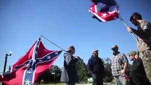 Giant Confederate Flag Confederate Monument Supporters Protest At Statue Of Confederate
