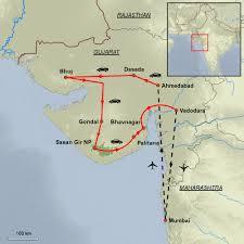Gujarat Blank Map by Gujarat Highlights Tour Mystic India Ltd