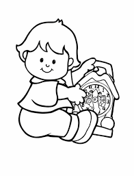 little people fixing a clock coloring pages batch coloring