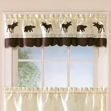 forest bear moose rustic tier window treatment