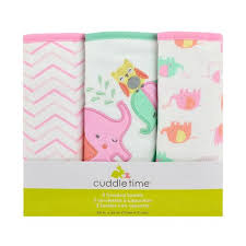 Bed And Bath Bath Accessories Shopko by Cuddletime 3 Pack Elephants Knit Terry Hooded Towel Set Shopko
