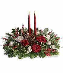 christmas flower arrangements christmas wishes centerpiece
