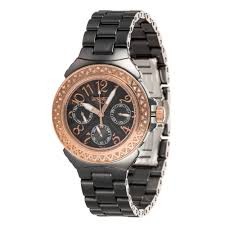 gold lamborghini with diamonds buy lancaster women u0027s ceramic diamonds rose gold black bracelet