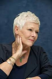 judi dench hairstyle front and back of head dame judi dench she s such a great actress one role she s