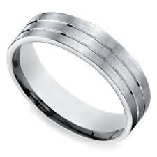 palladium mens wedding band concave men s wedding ring in palladium 7 5mm