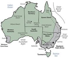map of australia and new zealand with cities deboomfotografie