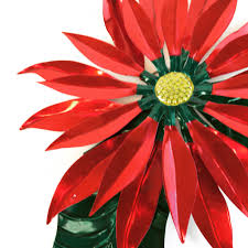 3 d tin mexican poinsettas shiny finish products