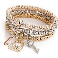 bracelet skull silver images Crown bracelet key heart love skull silver rose gold plated corn jpg