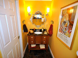 Orange Powder Room Choosing A Bathroom Layout Hgtv