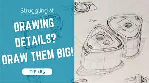 struggling at drawing details draw them big