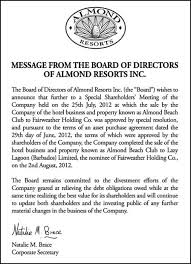 almond resort map almond resorts purchase were shareholders deceived barbados