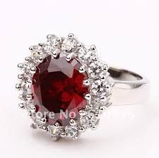 diamond red rings images Great 18k white gold ring red diamond rings do not fade anti jpg