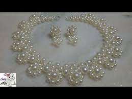 necklace making with pearl images 3 how to make pearl beaded necklace set diy jewellery making jpg
