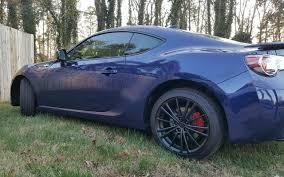 subaru matte black mydippedwhips scion matte black wheels u0026 shiny red calipers