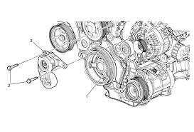 repair instructions on vehicle drive belt tensioner