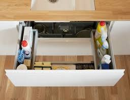Under Sink Storage Drawer Kitchen Drawer Storage Howdens Joinery - Kitchen sink drawer