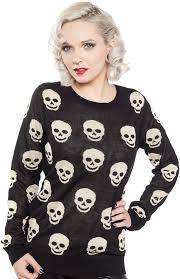 skull sweater o skull sweater blk