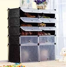 amazon com unicoo multi use diy plastic 10 cube shoe rack