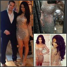 nude photos of kim kardashian 2018 kim kardashian dresses nude crystals cocktail dress with long