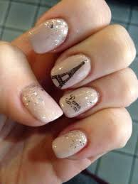 paris for new years nail design of the eiffel tower nails