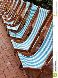 beach style vintage retro striped deck chairs royalty free stock