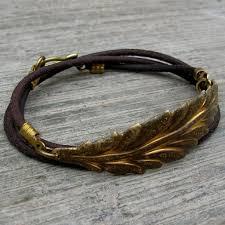 leather leaf bracelet images Vintage leaf genuine greek leather wrap bracelet lovepray jewelry jpg