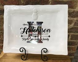 monogrammed platter personalized gifts by flowerfairymonograms on etsy