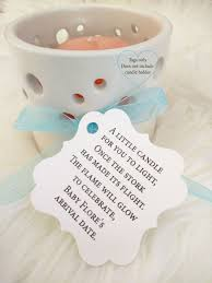baby shower candle prayer baby shower tea light favor tags