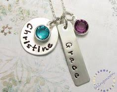 mothers necklace charms s necklace personalized necklace initial necklace three