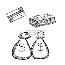 banker profession sketch design with businessman and financial