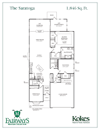 saratoga homes floor plans the saratoga the fairways masters collection kokes family builders
