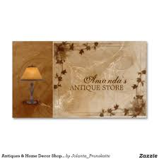 antiques u0026 home decor shop vintage lamp card business cards