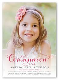 communion invitations for girl delightful day girl 5x7 invitation communion invitations