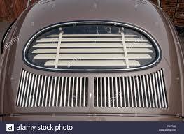 1954 vw volkswagen beetle rear window sun blind stock photo