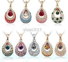 swarovski crystal flower necklace images Wholesale austria swarovski crystal elements of the crystal angel jpg